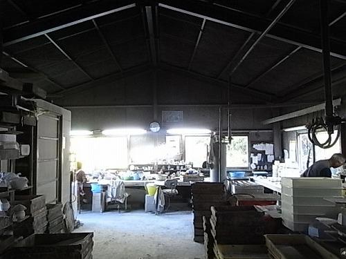 瀬戸の倉庫の様子。